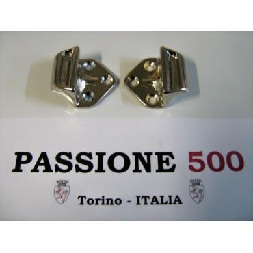 PAIR OF ORIGINAL FIAT STRIKE PLATE FIAT 500 N D GIARDINIERA