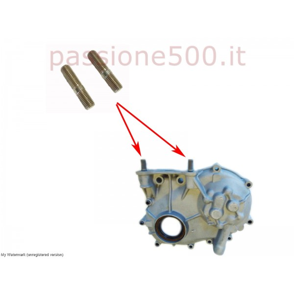 PAIR OF STUD FOR TIMING CHAIN COVER FIAT 500 N D F L