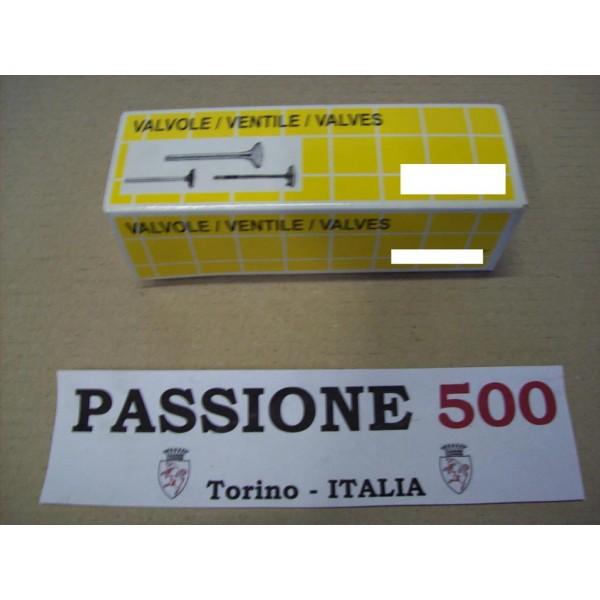 COUPLE OF INTAKE VALVES FIAT 500 / 126 650 cc