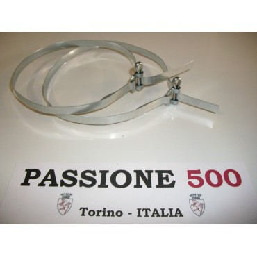 COUPLE OF BAND FOR ENGINE AIR HOSE FIXING - 1.000 mm - FIAT 500 N D F L R