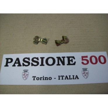 COUPLE OF CLIP FOR ACCELERATOR ROD FIAT 500 N D F L R