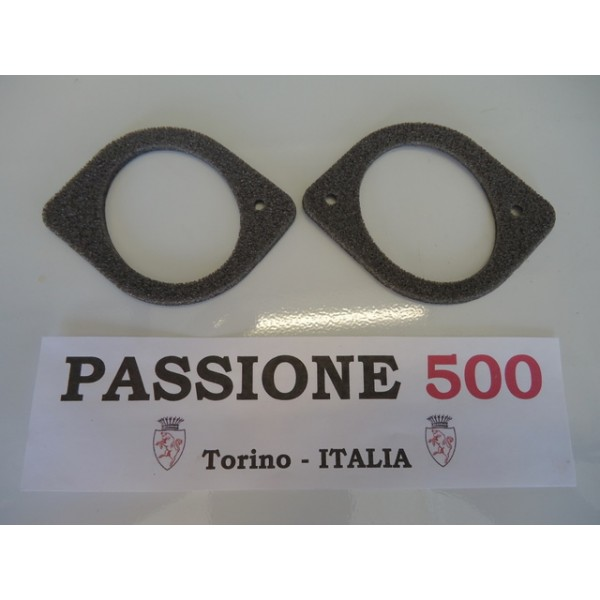 COUPLE OF GASKET FOR INTERNAL HEATING ELBOW FIAT 500 D F L R G