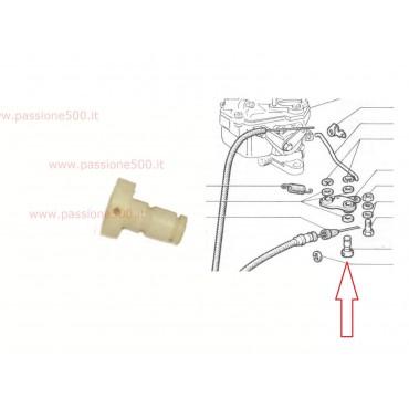PLASTIC BUSH OF ACCELERATOR LEVER ROD FIAT 500 N D F L R