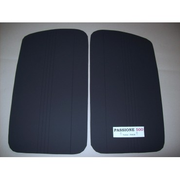 BLACK DOOR LINING PANELS FOR FIAT 500 D AND GIARDINIERA - 2° TYPE