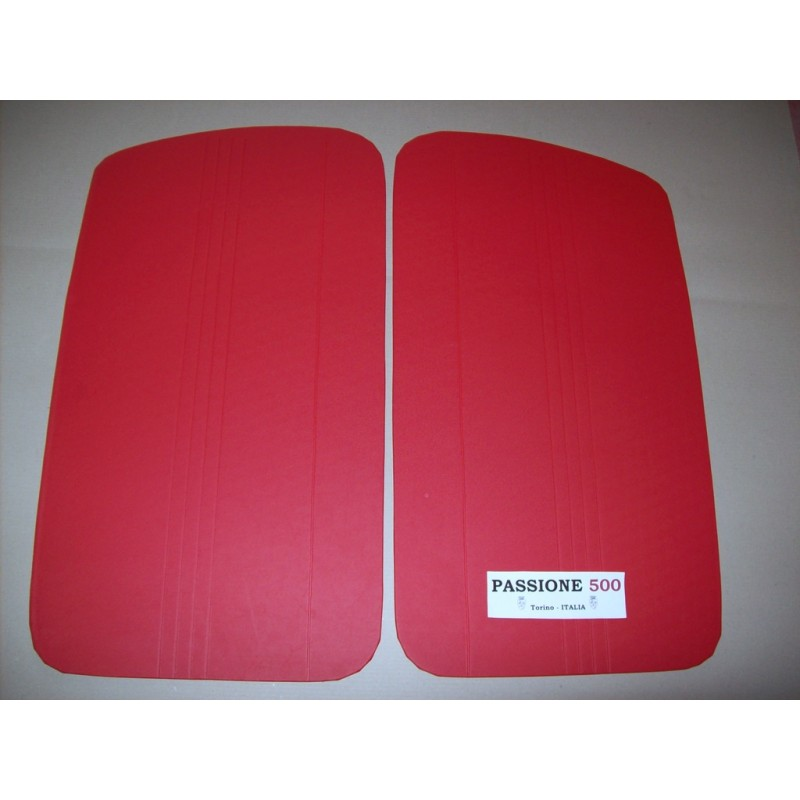 RED DOOR LINING PANELS FOR FIAT 500 D AND GIARDINIERA - 1° TYPE