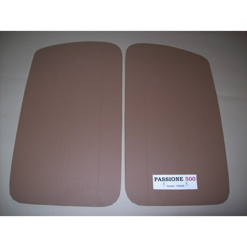 BEIGE DOOR LINING PANELS FOR FIAT 500 D AND GIARDINIERA - 1° TYPE