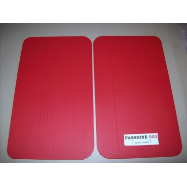 RED DOOR LINING PANELS FOR FIAT 500 F