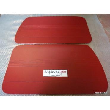 DARK RED DOOR LINING PANELS FOR FIAT 500 GIARDINIERA