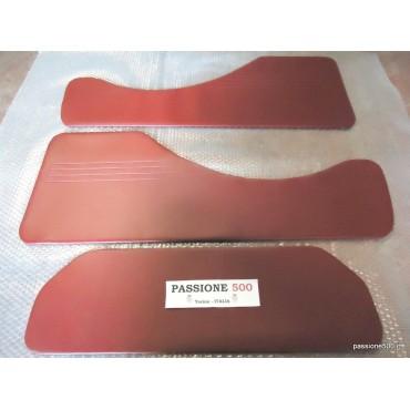 KIT OF DARK RED REAR LINING PANELS FOR FIAT 500 GIARDINIERA