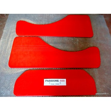 KIT OF RED REAR LINING PANELS FOR FIAT 500 GIARDINIERA