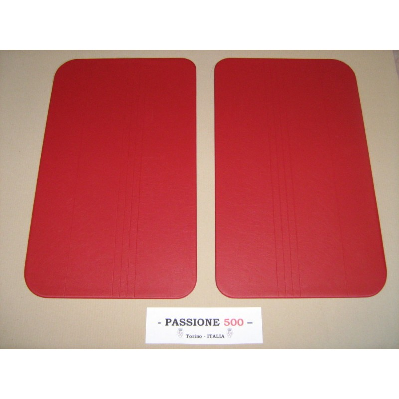 NR.2 RED DOOR LINING PANELS FOR FIAT 500 R
