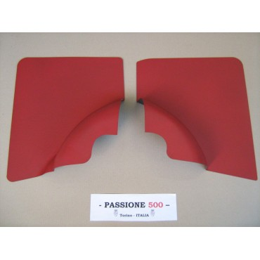 NR.2 RED REAR SIDE PANELS FOR FIAT 500 F AND 500 R