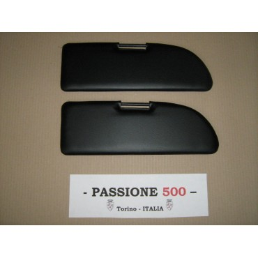 NR.2 BLACK SUN VISORS FOR FIAT 500