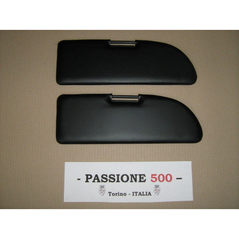 NR.2 BLACK SUN VISORS FOR FIAT 500