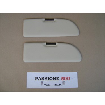NR.2 WHITE SUN VISORS FOR FIAT 500