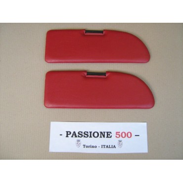 NR.2 RED SUN VISORS FOR FIAT 500