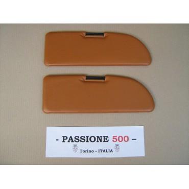 NR.2 BEIGE SUN VISORS FOR FIAT 500