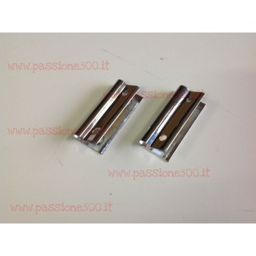 PAIR OF METAL HINGES FOR SUN VISOR FIXING FIAT 500 N D F until 1968