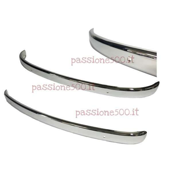 COUPLE OF BUMPER IN CHROMED STEEL - HIGH QUALITY FIAT 500 N D F L R