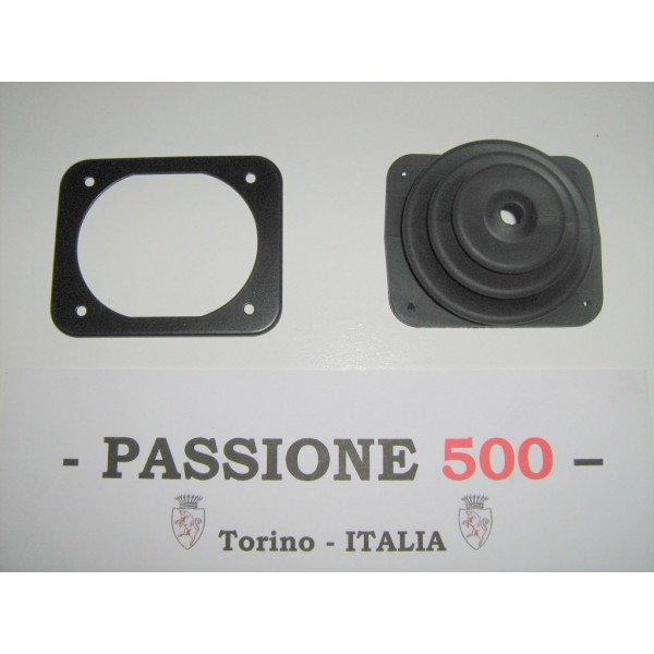GEARSHIFT LEVER BOOT WITH METALLIC PLATE FIAT 500