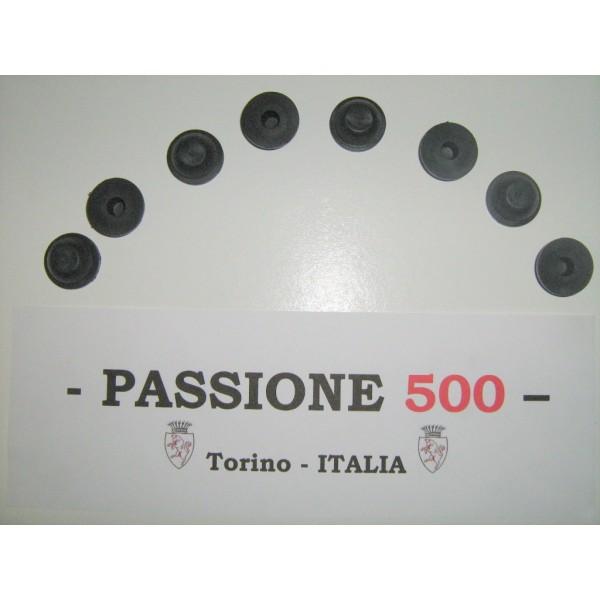 KIT OF 8 RUBBER PLUG FOR FLOOR PAN - hole diameter 23 mm FIAT 500