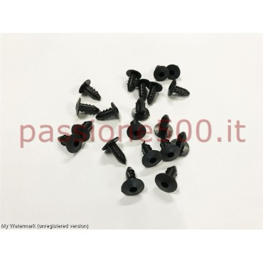 KIT OF 20 RUBBER PIN - HARD TYPE (PVC) - FOR FLOOR MATS FIXING FIAT 500