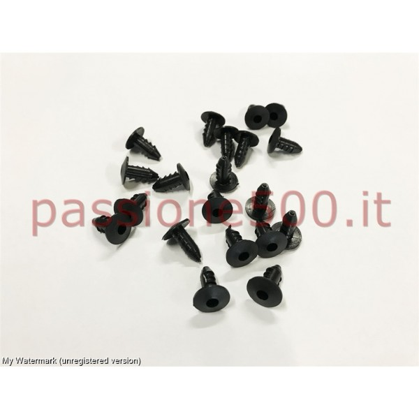 KIT OF 20 RUBBER PIN - HARD TYPE (PVC) - FOR FLOOR MATS FIXING FIAT 500
