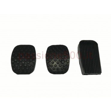 COMPLETE KIT OF PEDAL RUBBER COVERS FIAT 500