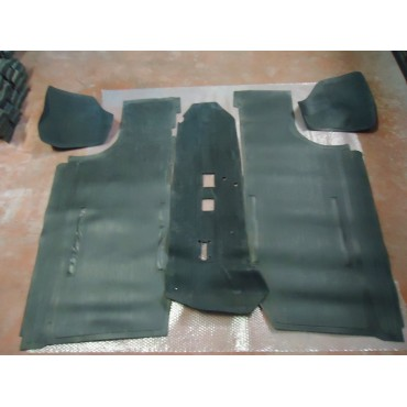 SET OF 5 PIECES OF RUBBER FLOOR MATS FIAT 500 N UNTIL 1959