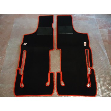 SET OF ADDITIONAL CARPET FLOOR MATS IN BLACK COLOR FIAT 500 D F L R