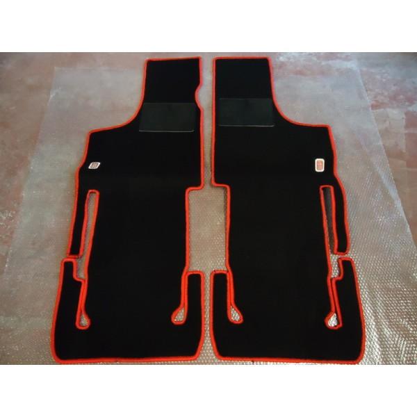 SET OF ADDITIONAL CARPET FLOOR MATS IN BLACK COLOR FIAT 500 D F L R