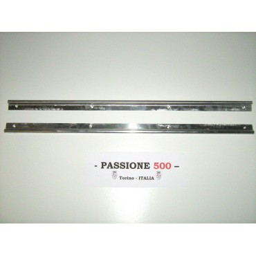 COUPLE OF ALUMINIUM DOORSILL MOULDING FIAT 500 F