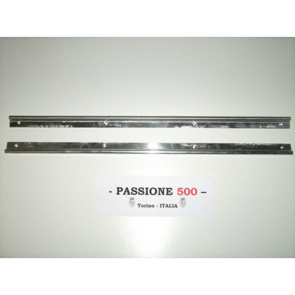 PAIR OF INOX STEEL DOORSILL MOULDING FIAT 500 FRANCIS LOMBARDI