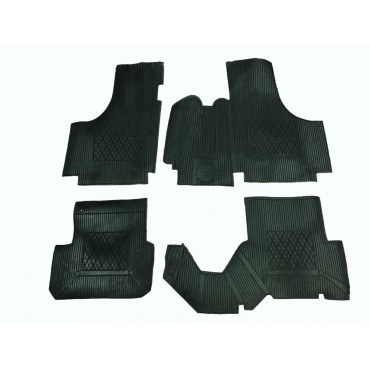 SET OF ADDITIONAL RUBBER FLOOR MATS FIAT 500 D F L R