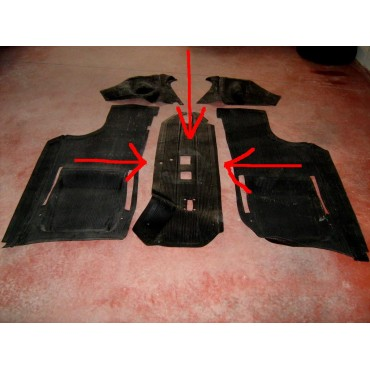 CENTRAL PART OF RUBBER FLOOR MATS FIAT 500 F R