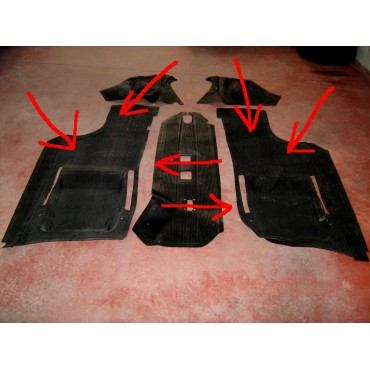 FLOOR PANELS RUBBER FLOOR MATS FIAT 500 F R