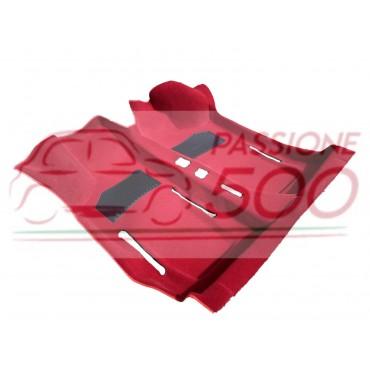 RED INTERIOR MOULDED CARPET IN MOQUETTE FIAT 500