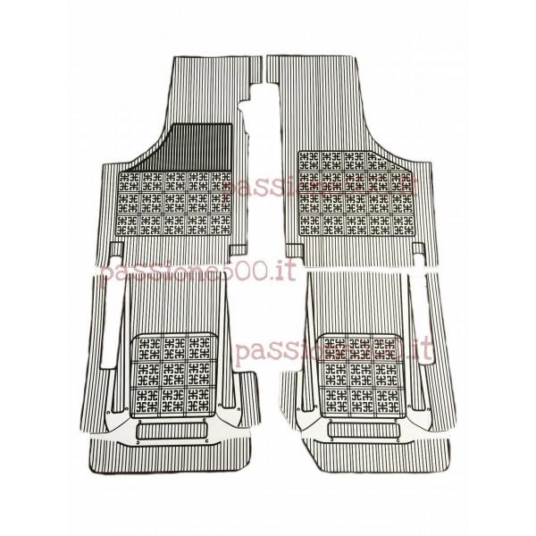 SET OF ADDITIONAL RUBBER CARPET FLOOR MATS IN WHITE COLOR FIAT 500 D F L R