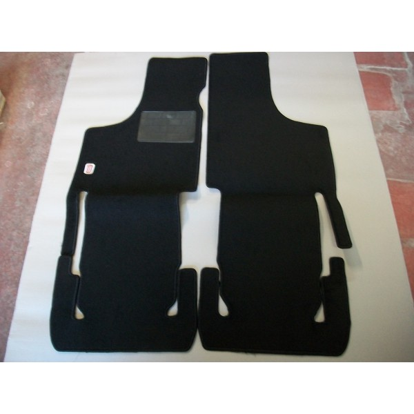 SET OF ADDITIONAL MOQUETTE CARPET FLOOR MATS IN BLACK COLOR FIAT 500 D F L R