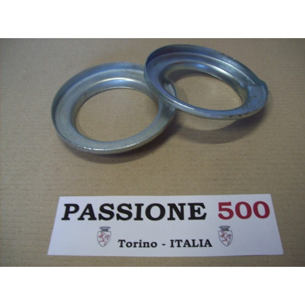 COUPLE OF CUP FOR REAR SUSPENSION SPRING FIAT 500 F L R GIARD