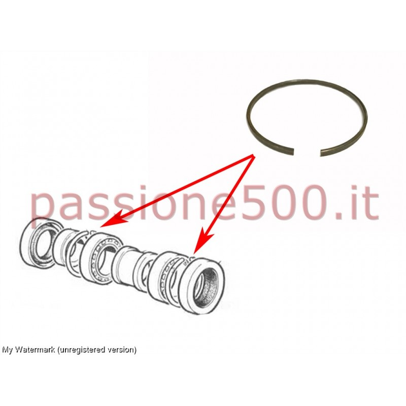 ELASTIC RING FOR REAR WHEEL BEARING FIAT 500 N D F L R
